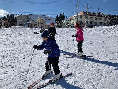 ムスコは初の雪&スキー