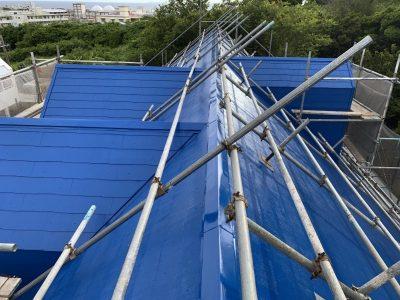 屋根は遮熱塗料です