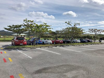 大保ダムの駐車場