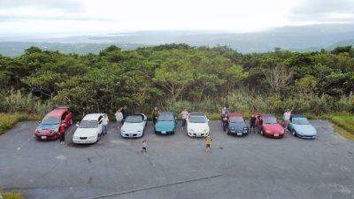 石山展望台の駐車場